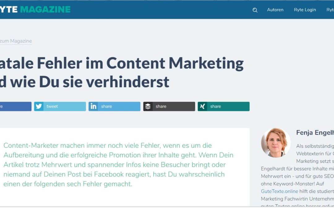 6 fatale Fehler im Content Marketing und wie man sie verhindert