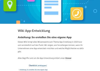 Eigene App erstellen.com